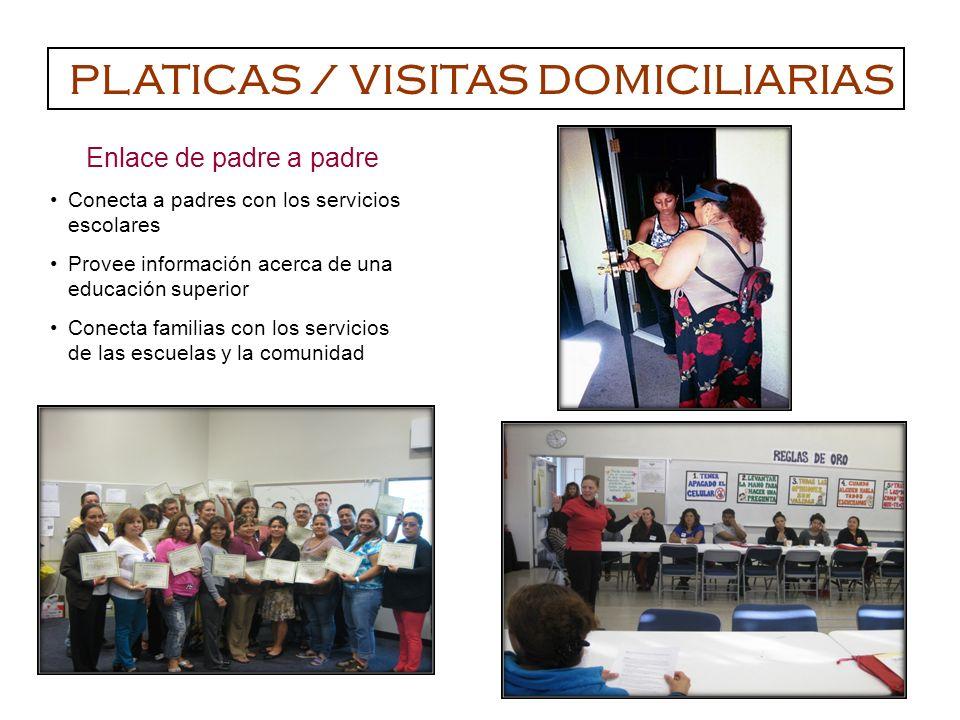 PLATICAS / VISITAS DOMICILIARIAS