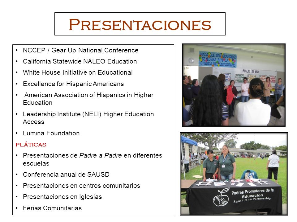 Presentaciones NCCEP / Gear Up National Conference