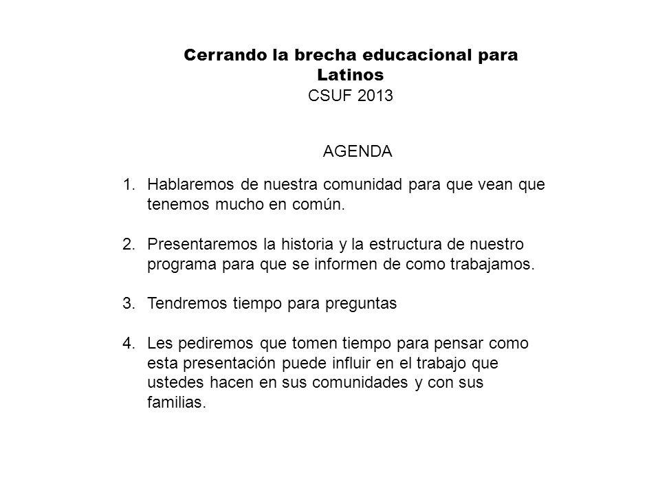 Cerrando la brecha educacional para Latinos
