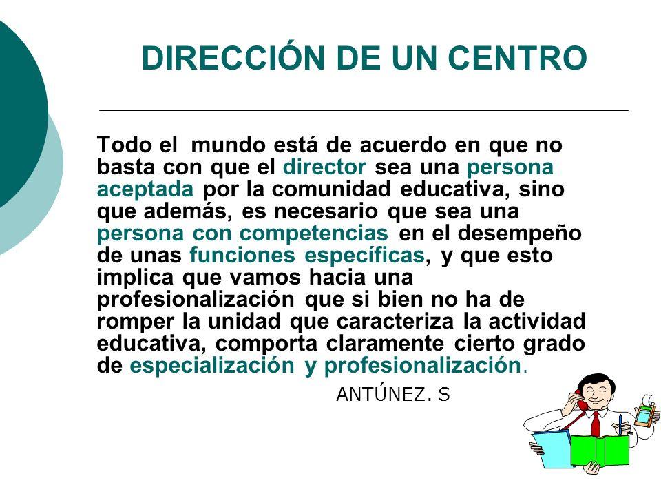 DIRECCIÓN DE UN CENTRO ANTÚNEZ. S