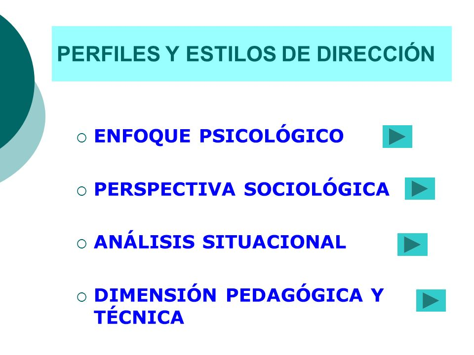 PERFILES Y ESTILOS DE DIRECCIÓN