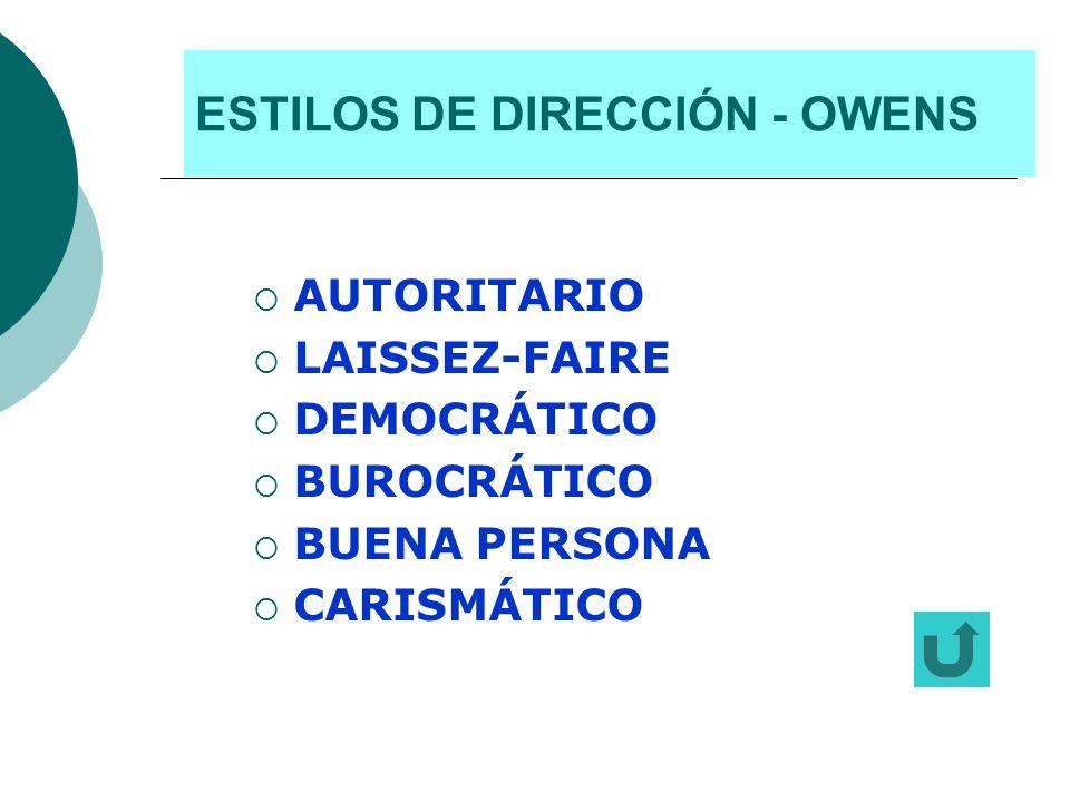 ESTILOS DE DIRECCIÓN - OWENS