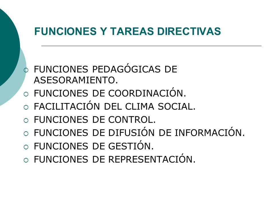 FUNCIONES Y TAREAS DIRECTIVAS