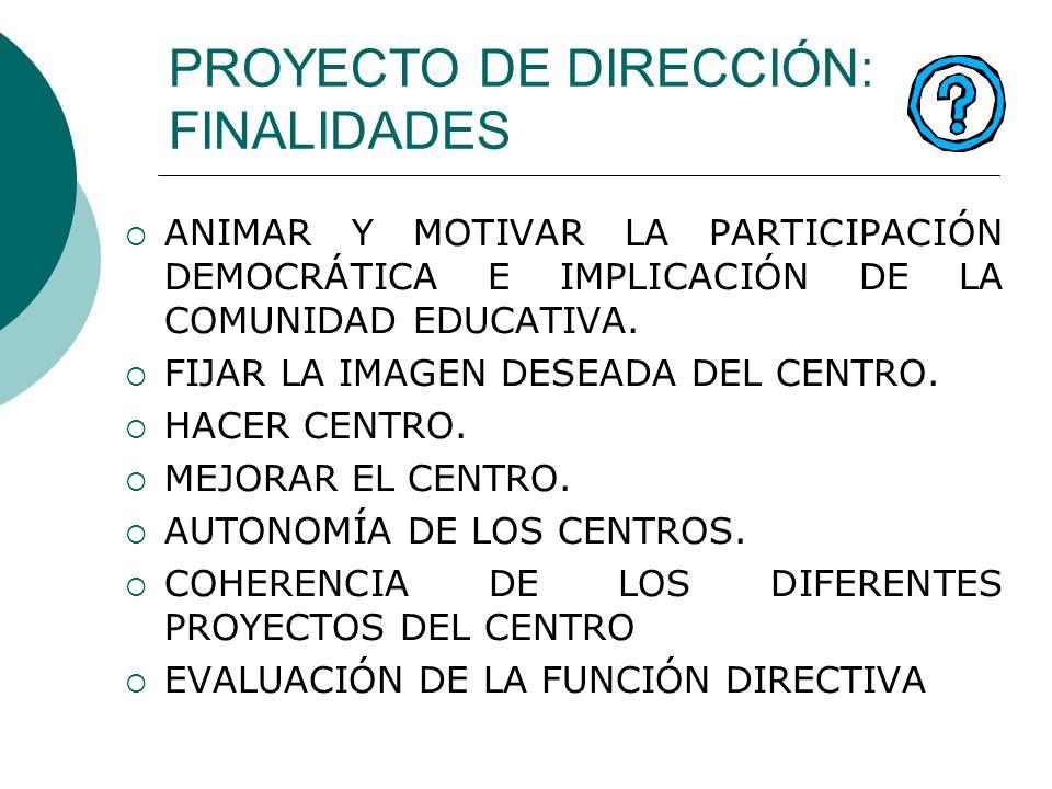 PROYECTO DE DIRECCIÓN: FINALIDADES