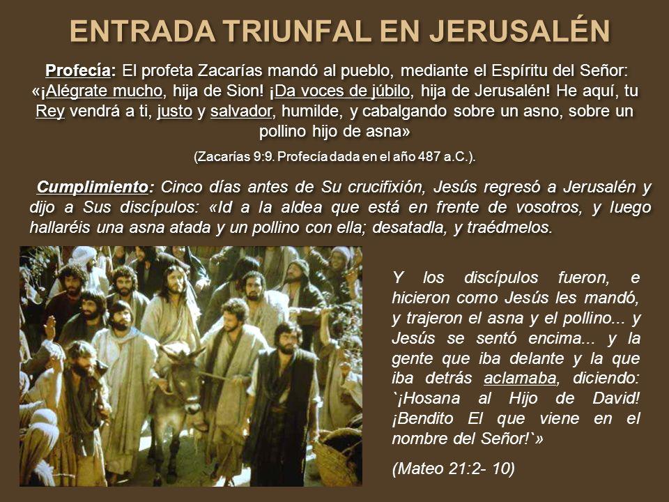 ENTRADA TRIUNFAL EN JERUSALÉN