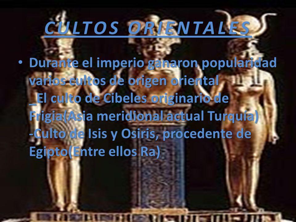 CULTOS ORIENTALES
