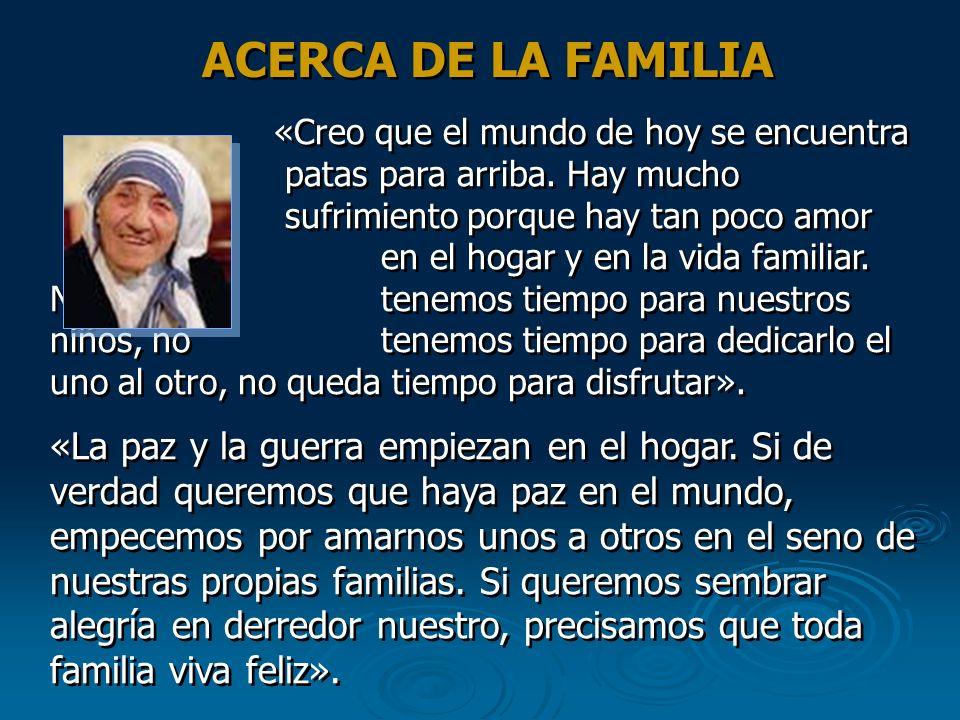 ACERCA DE LA FAMILIA