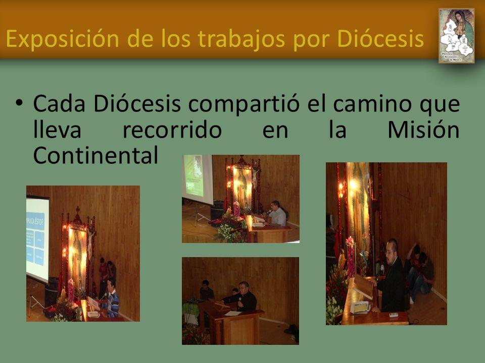 Exposición de los trabajos por Diócesis