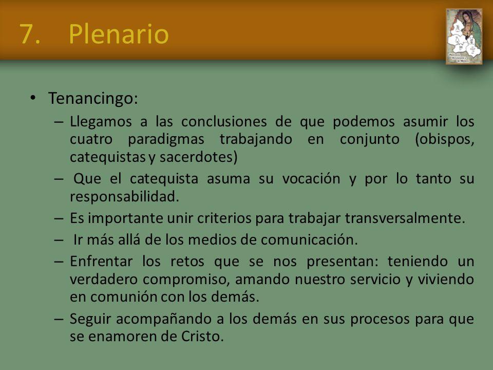 7. Plenario Tenancingo: