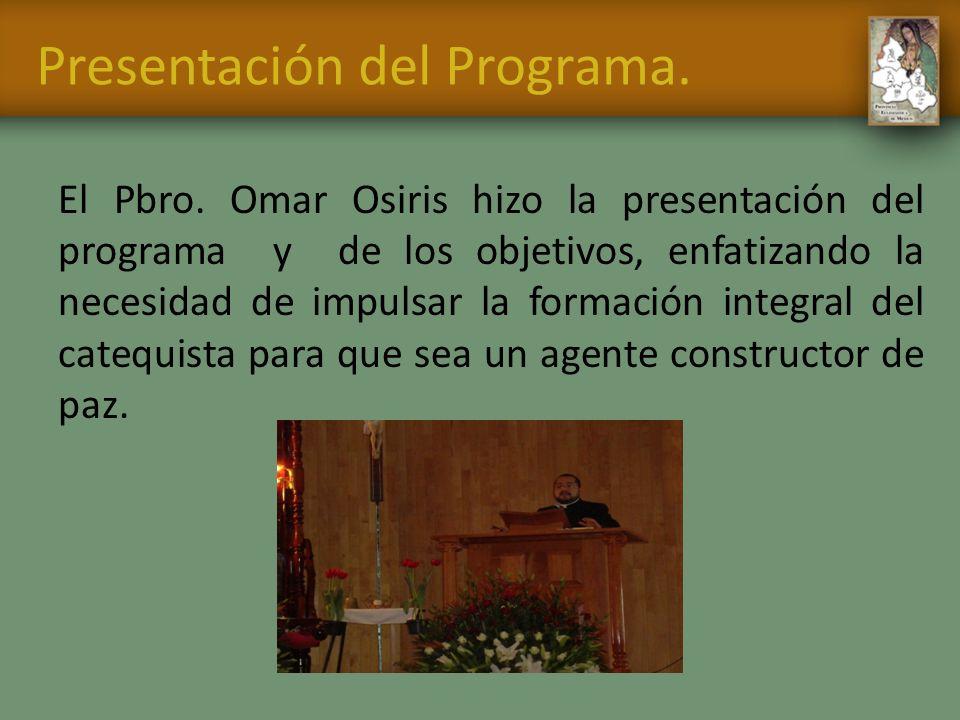 Presentación del Programa.
