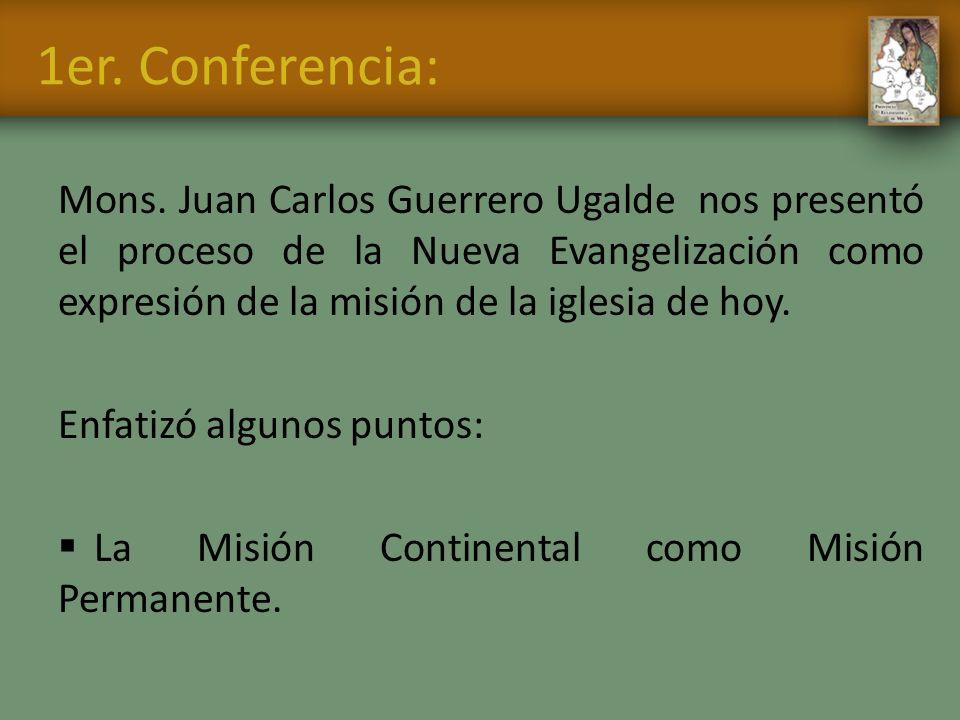 1er. Conferencia: