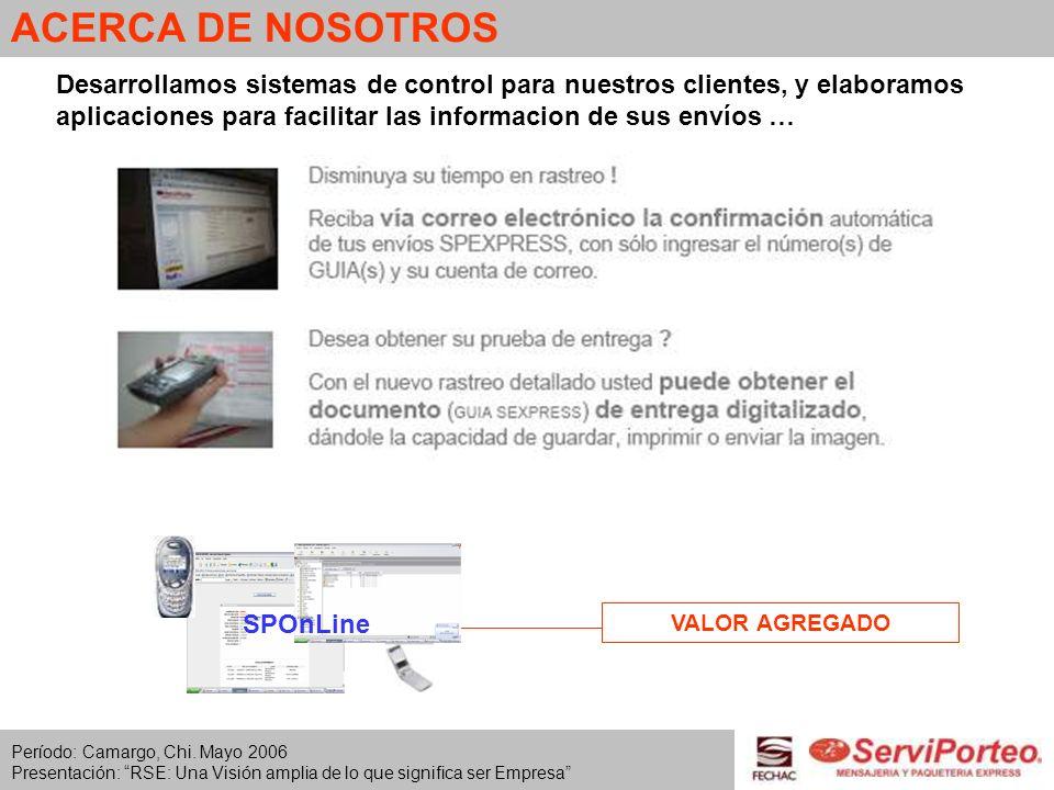 ACERCA DE NOSOTROSDesarrollamos sistemas de control para nuestros clientes, y elaboramos aplicaciones para facilitar las informacion de sus envíos …