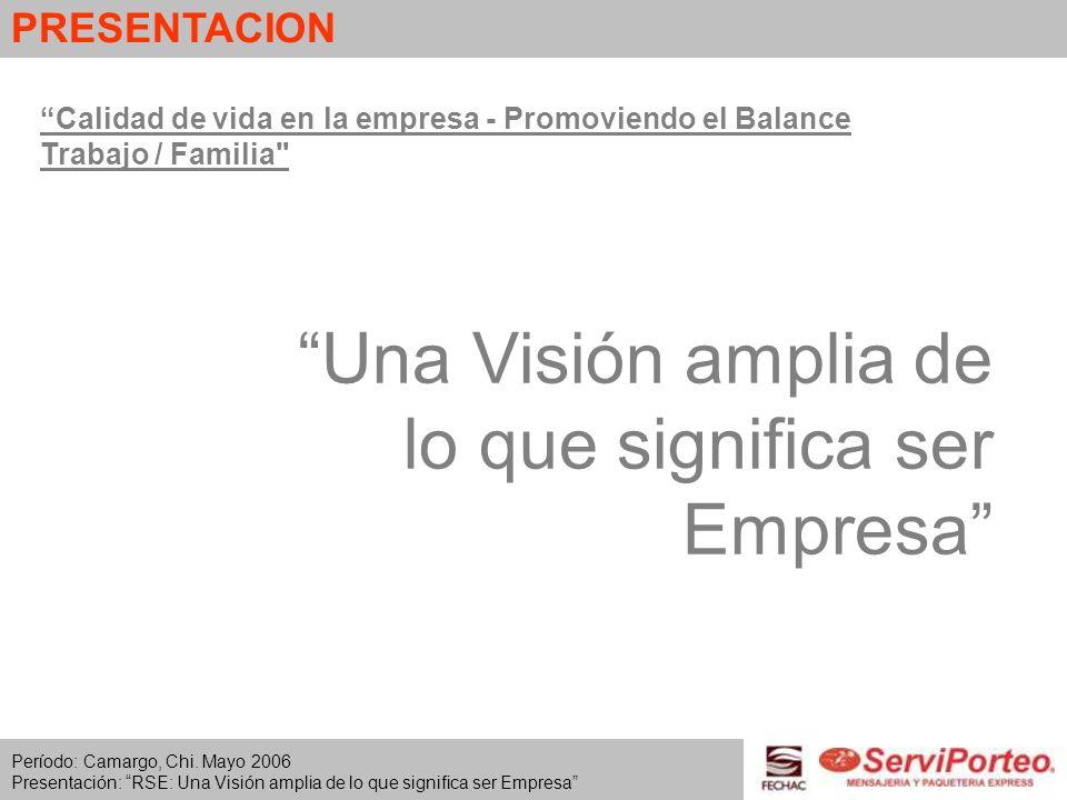 Una Visión amplia de lo que significa ser Empresa