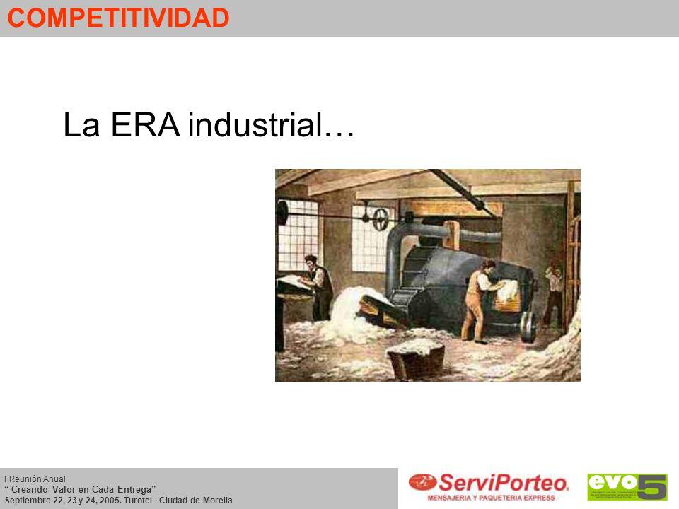 La ERA industrial… COMPETITIVIDAD
