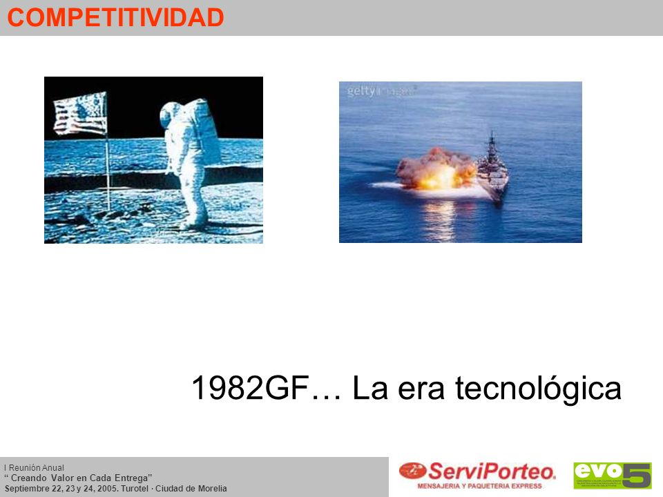 1982GF… La era tecnológica COMPETITIVIDAD