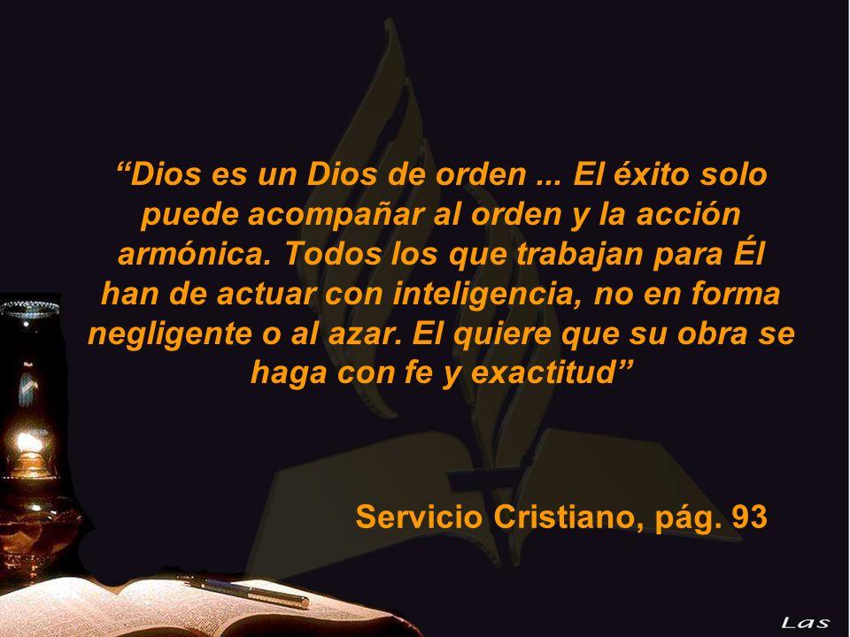 Dios es un Dios de orden