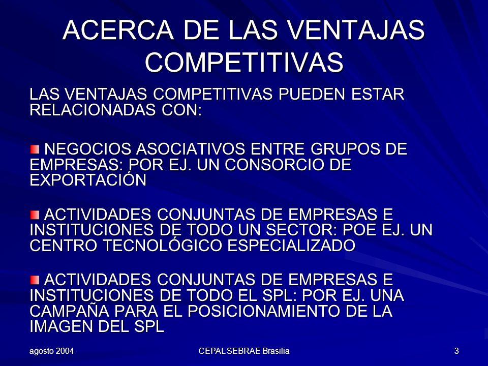 ACERCA DE LAS VENTAJAS COMPETITIVAS