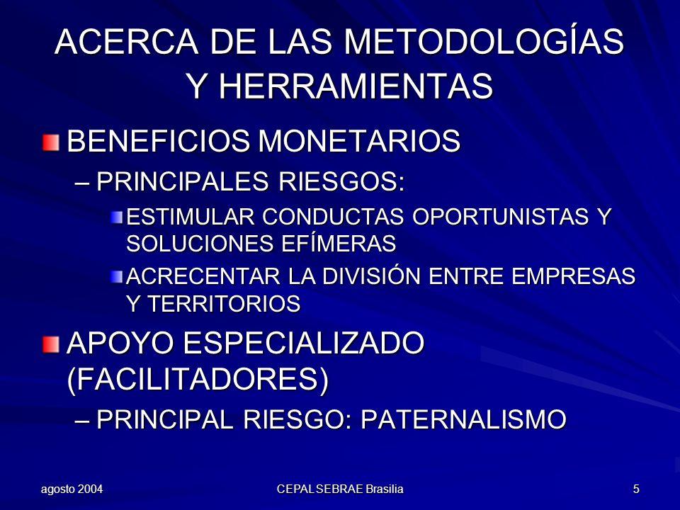 ACERCA DE LAS METODOLOGÍAS Y HERRAMIENTAS