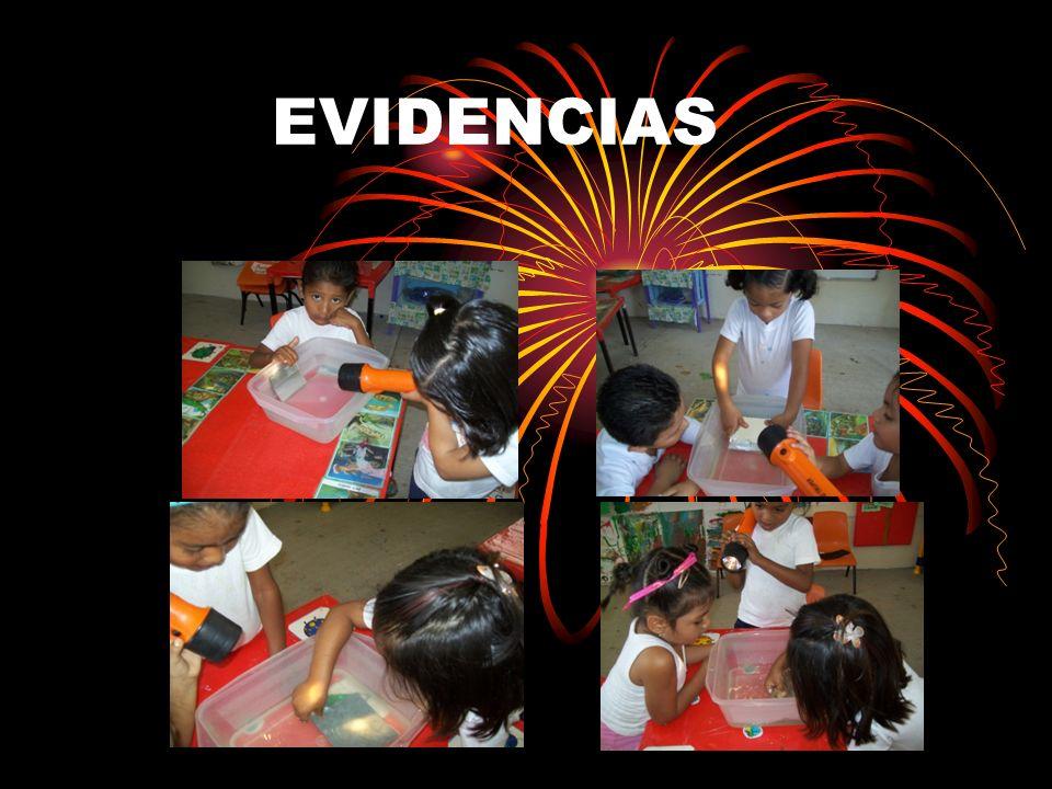 EVIDENCIAS AQUÍ LOS NIÑOS EMPEZARON A MANIPULAR LOS MATERIALES