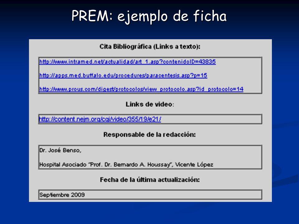 PREM: ejemplo de ficha