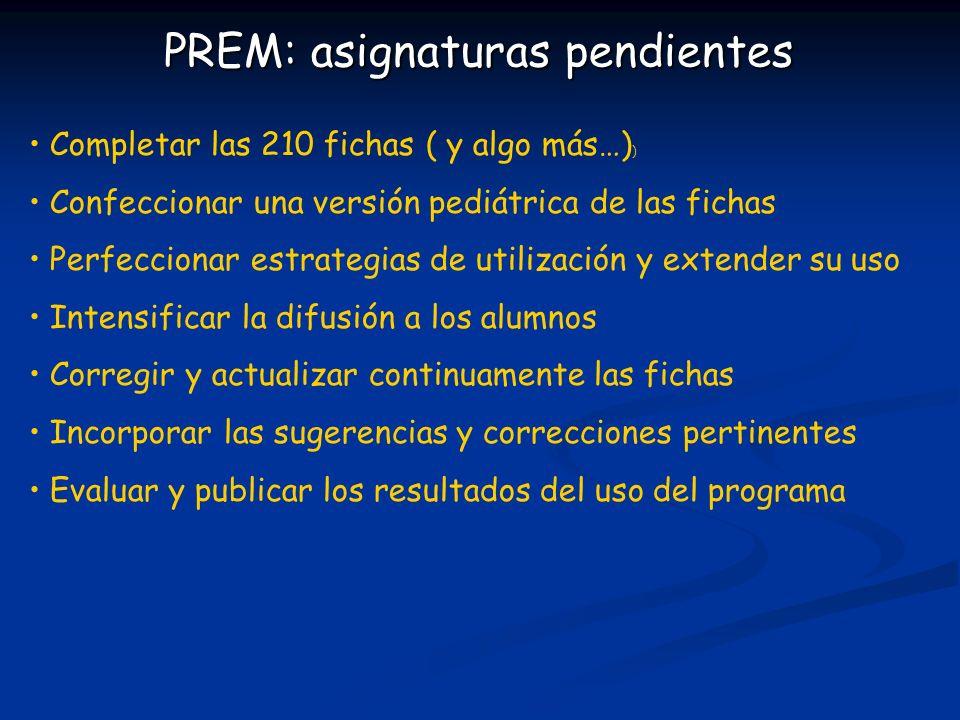 PREM: asignaturas pendientes