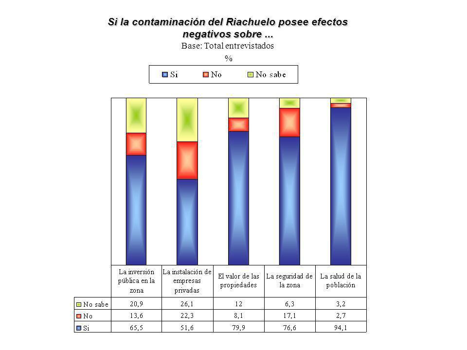 Si la contaminación del Riachuelo posee efectos negativos sobre ...
