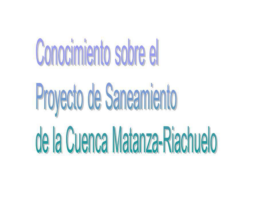 Conocimiento sobre el Proyecto de Saneamiento de la Cuenca Matanza-Riachuelo