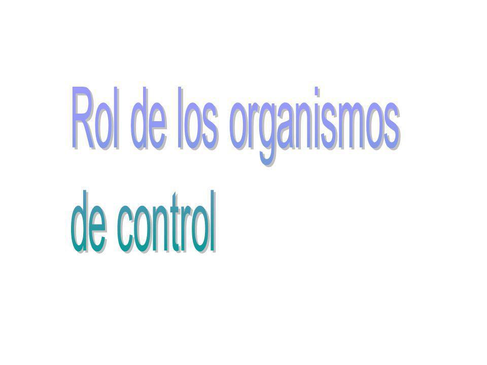 Rol de los organismos de control