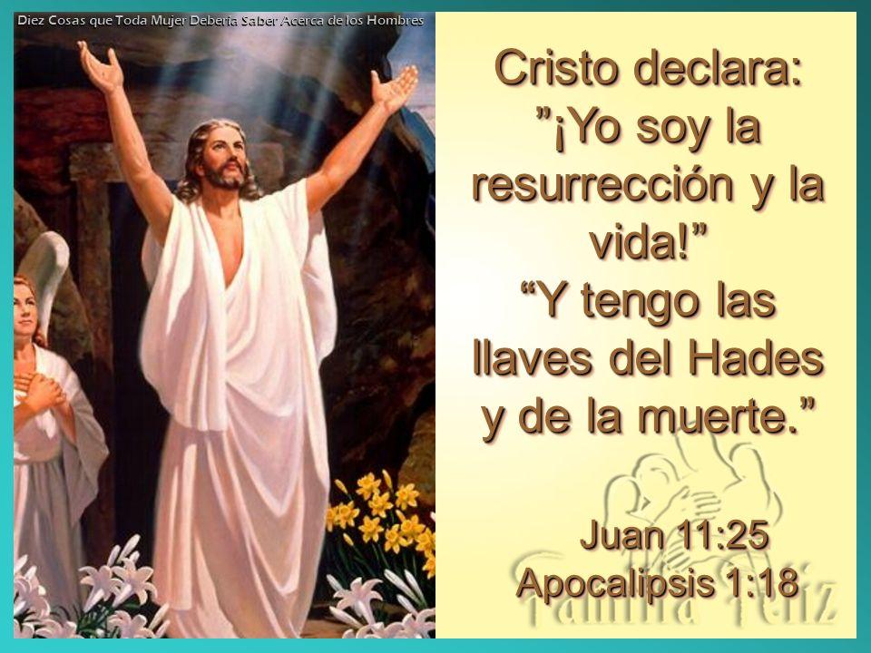 Cristo declara: ¡Yo soy la resurrección y la vida!
