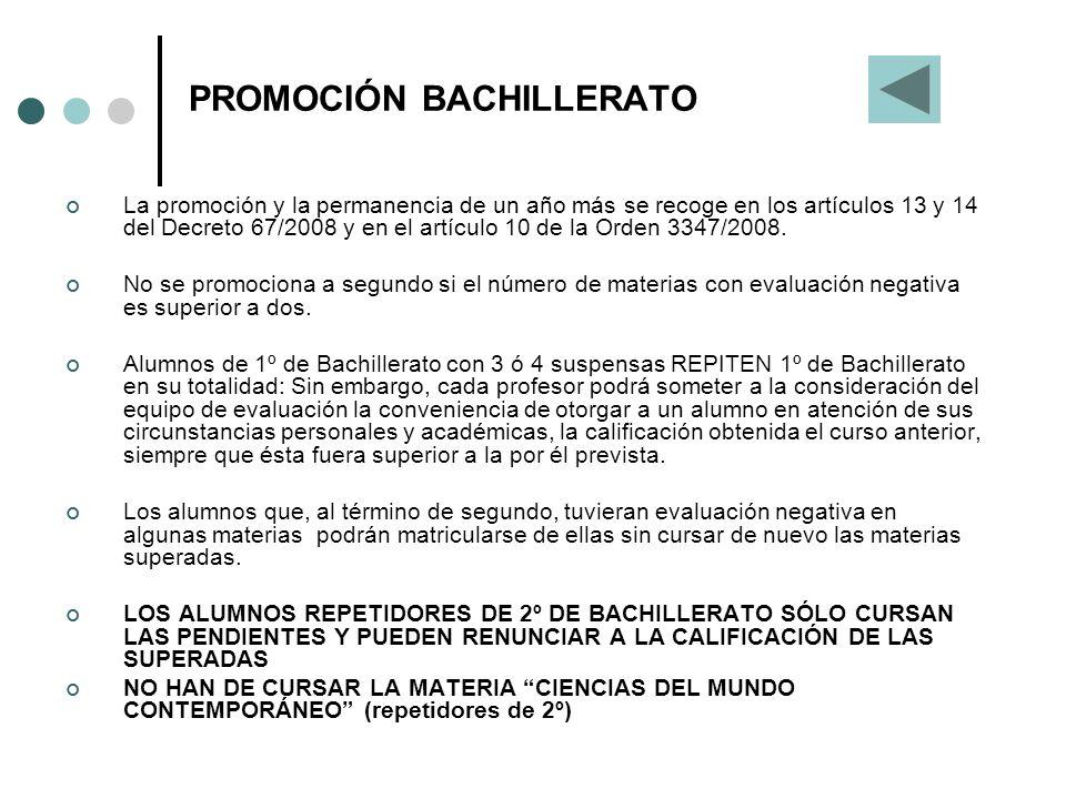PROMOCIÓN BACHILLERATO