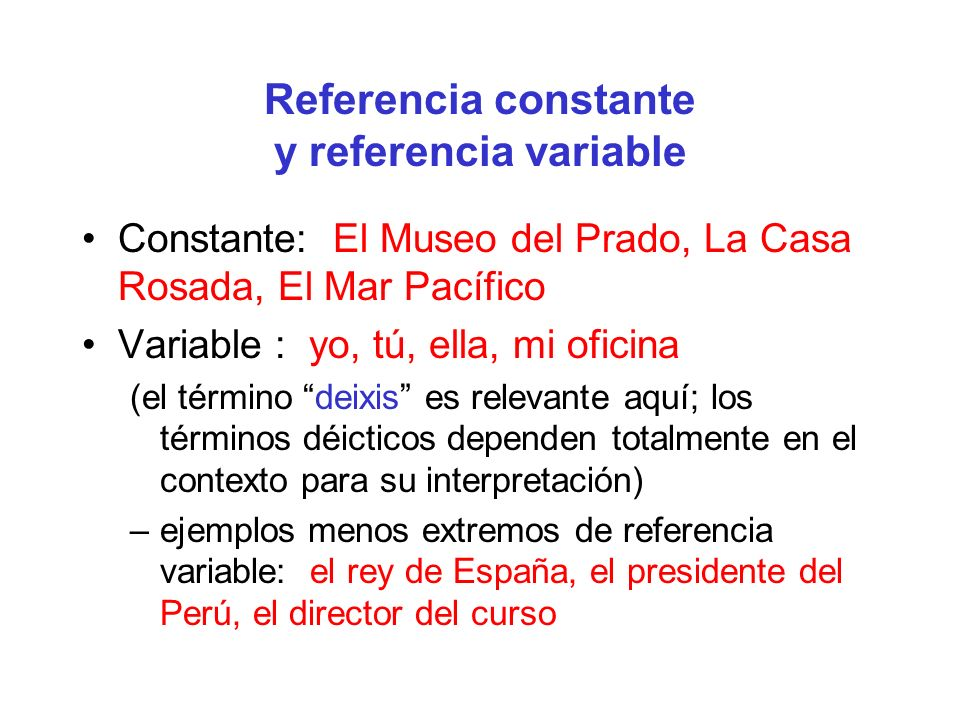 Referencia constante y referencia variable