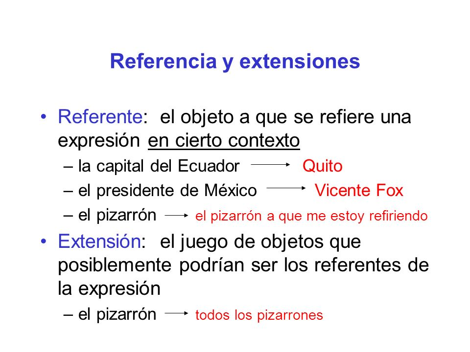 Referencia y extensiones