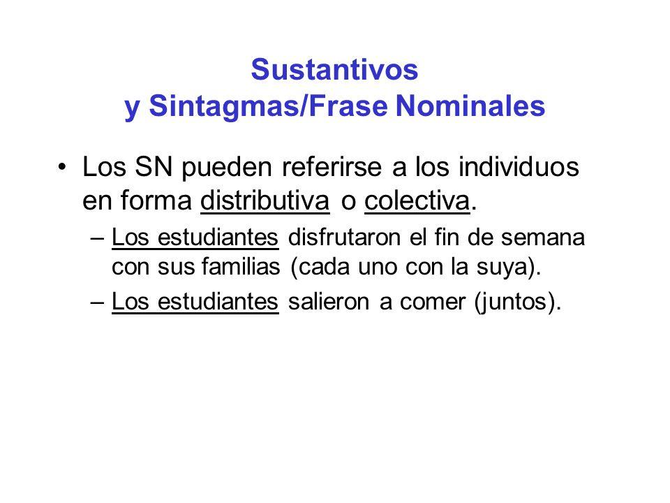 Sustantivos y Sintagmas/Frase Nominales