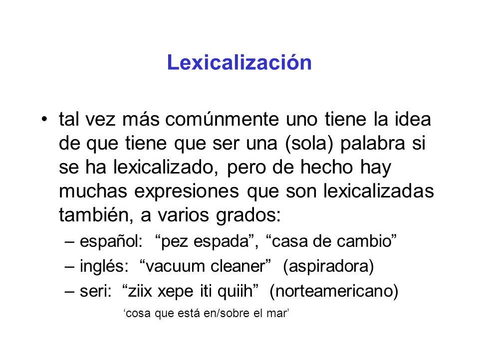 Lexicalización