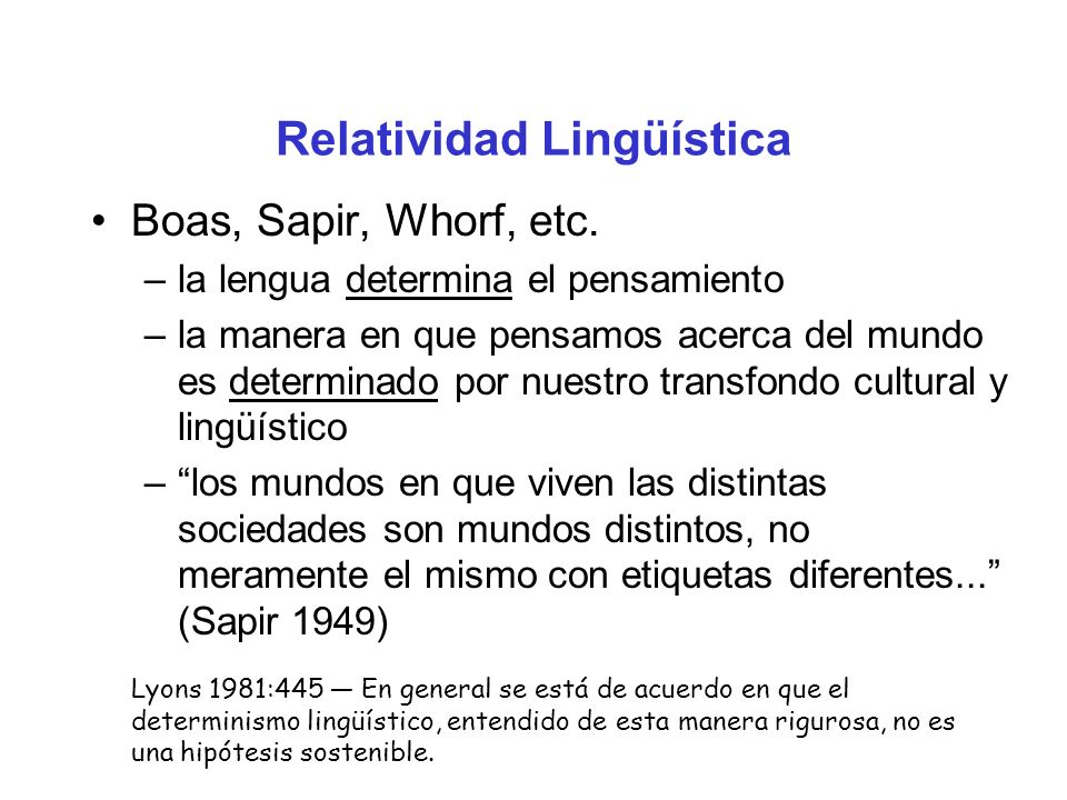 Relatividad Lingüística