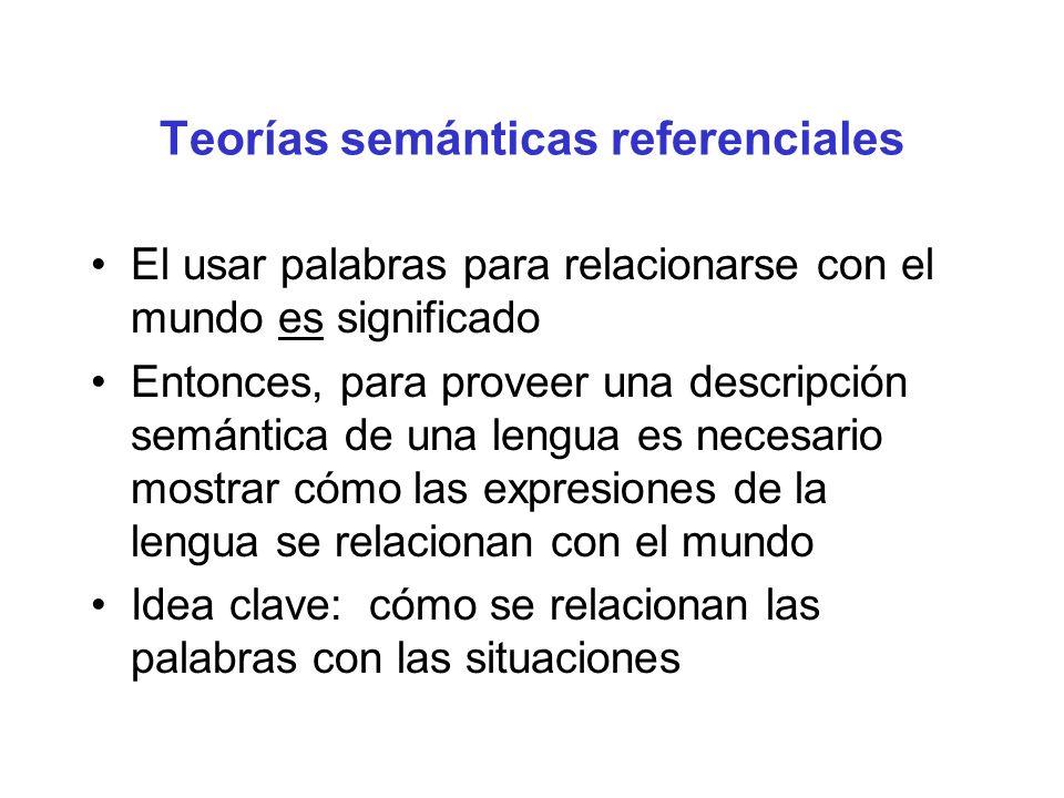 Teorías semánticas referenciales