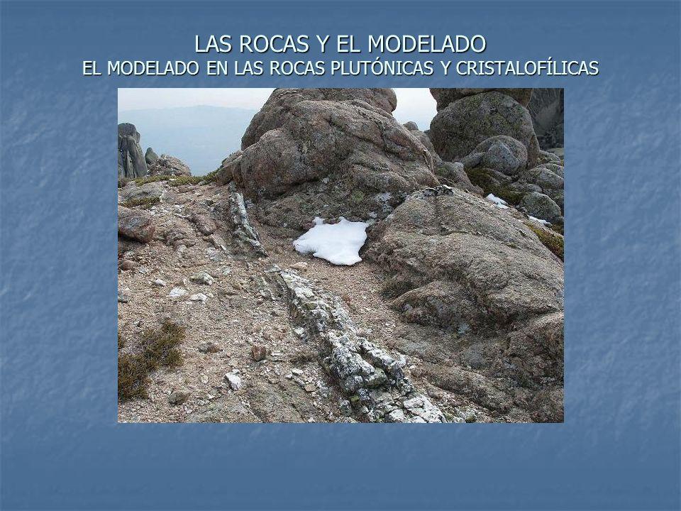 LAS ROCAS Y EL MODELADO EL MODELADO EN LAS ROCAS PLUTÓNICAS Y CRISTALOFÍLICAS