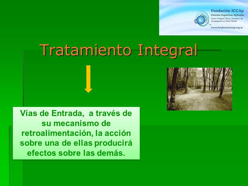 Tratamiento Integral Vías de Entrada, a través de su mecanismo de retroalimentación, la acción sobre una de ellas producirá efectos sobre las demás.