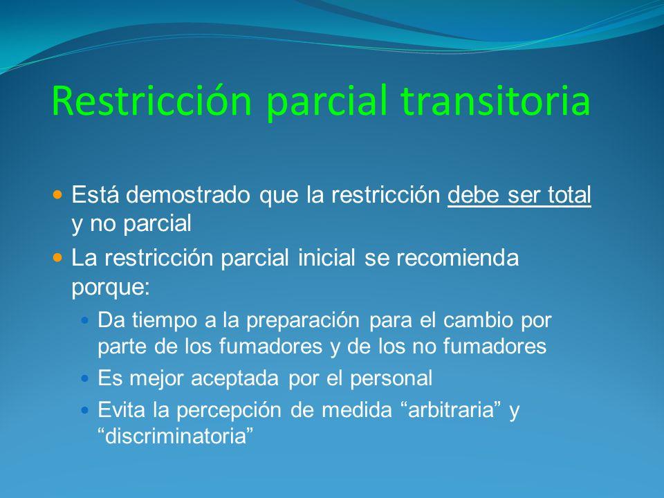 Restricción parcial transitoria
