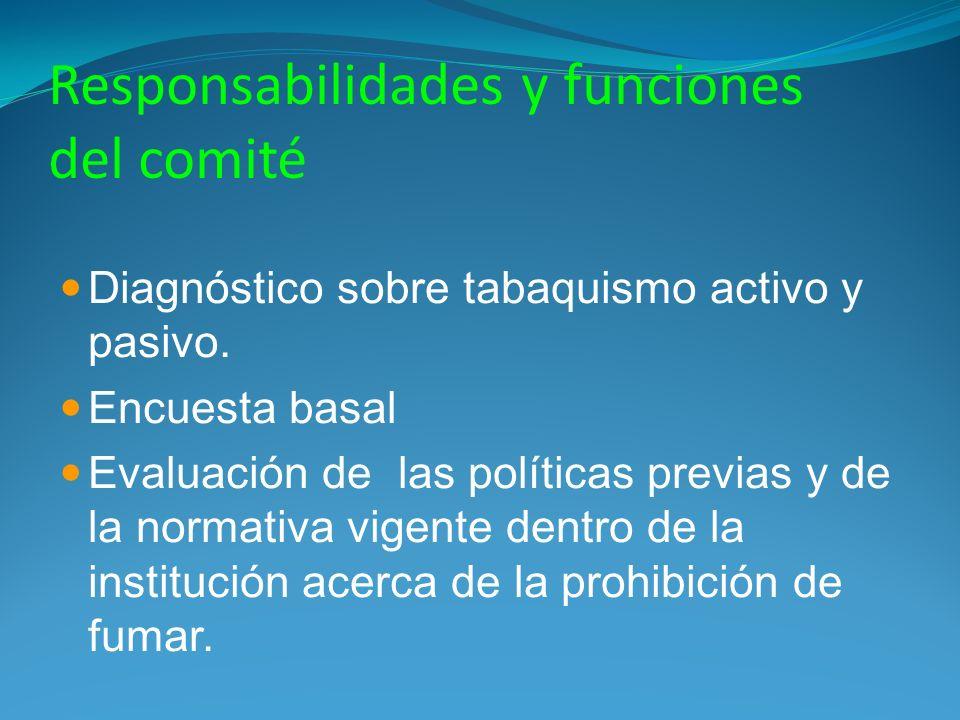Responsabilidades y funciones del comité