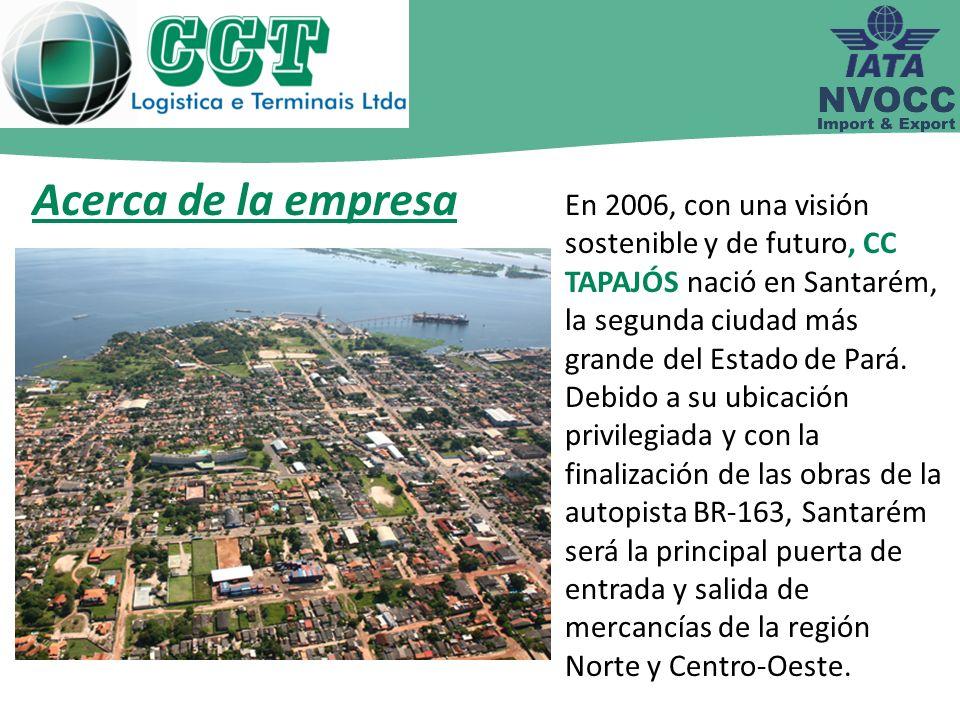 Acerca de la empresa En 2006, con una visión sostenible y de futuro, CC TAPAJÓS nació en Santarém, la segunda ciudad más grande del Estado de Pará.