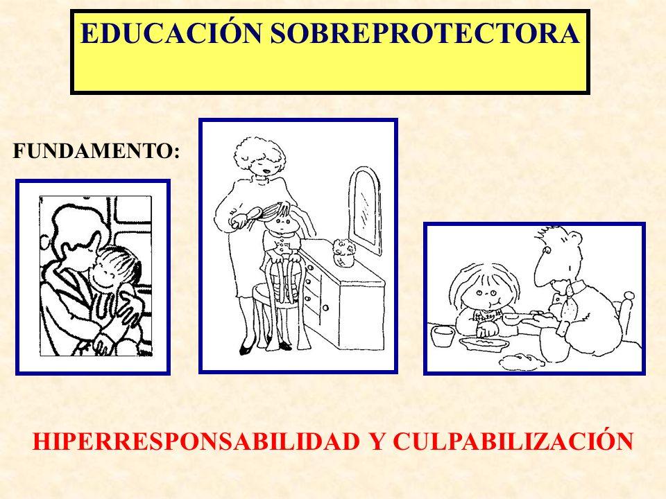 EDUCACIÓN SOBREPROTECTORA HIPERRESPONSABILIDAD Y CULPABILIZACIÓN