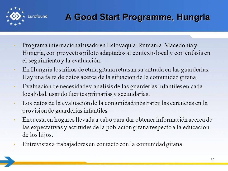 A Good Start Programme, Hungria