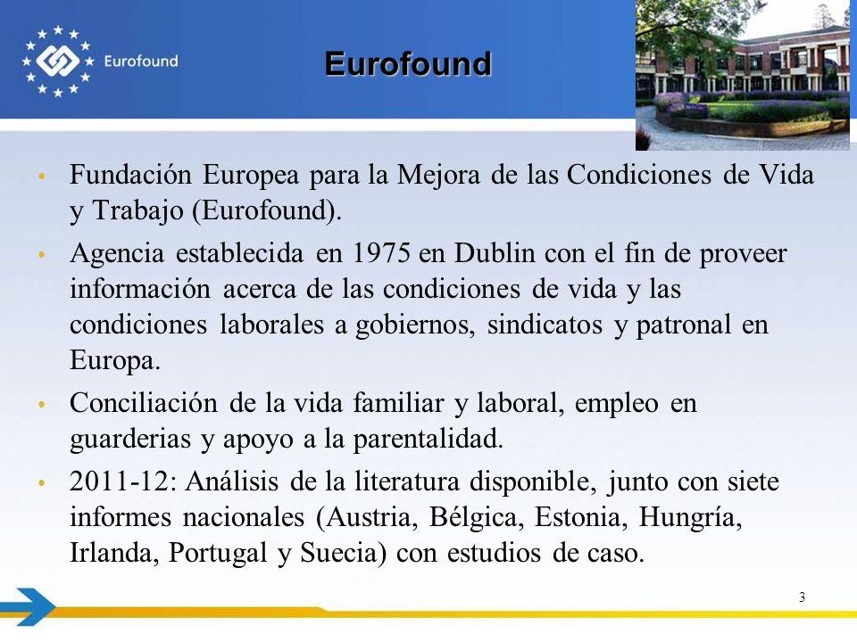 Eurofound Fundación Europea para la Mejora de las Condiciones de Vida y Trabajo (Eurofound).