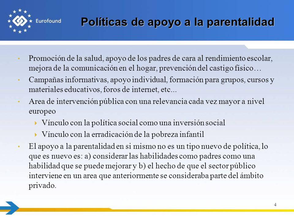Políticas de apoyo a la parentalidad