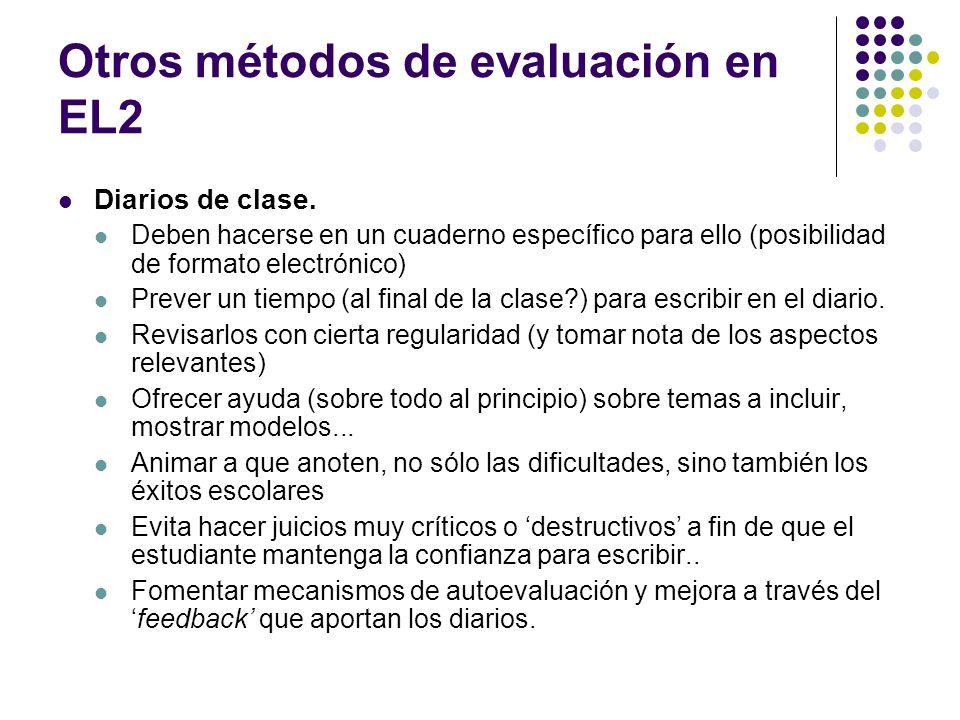 Otros métodos de evaluación en EL2