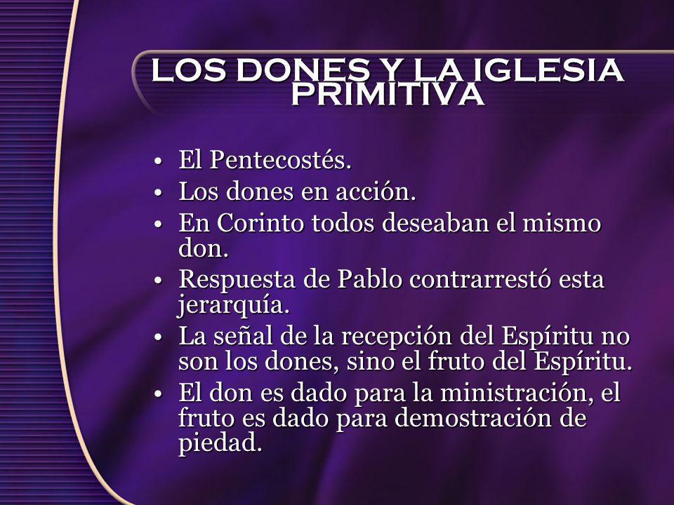 LOS DONES Y LA IGLESIA PRIMITIVA