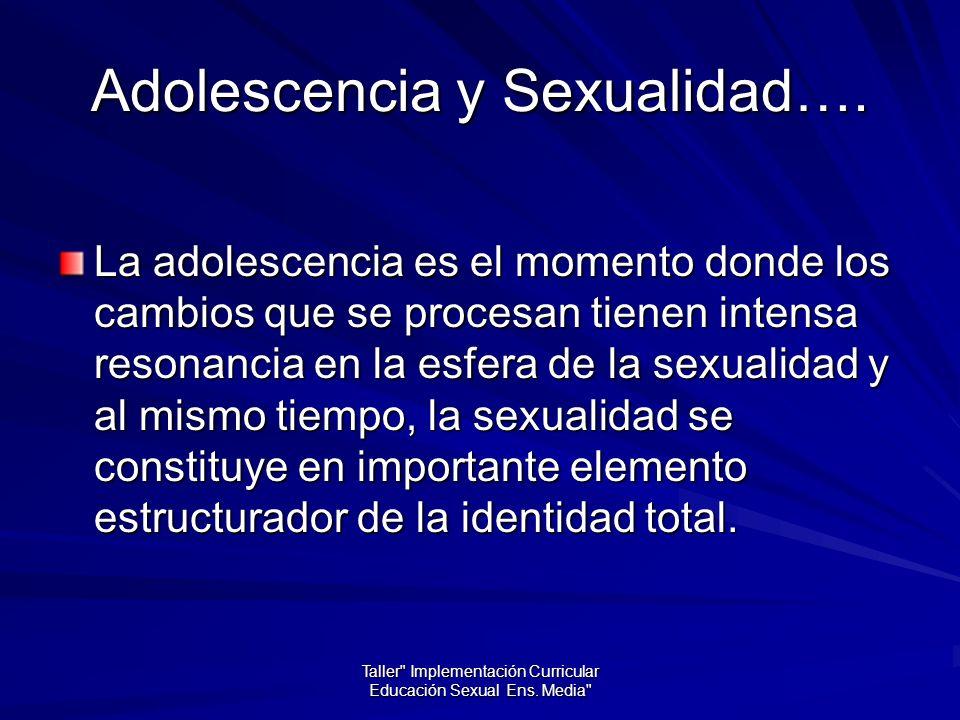 Adolescencia y Sexualidad….