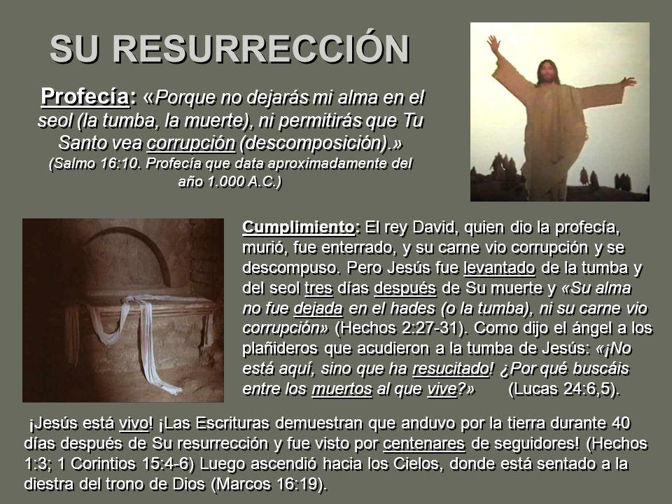 SU RESURRECCIÓN