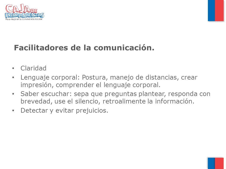 Facilitadores de la comunicación.